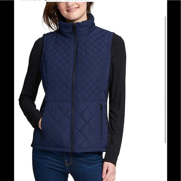 Andrew Marc Women/'s Ribbed Knit Quilted Vest Size L NWT